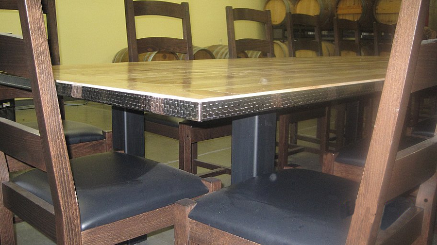 Troegs Brewery table and chairs